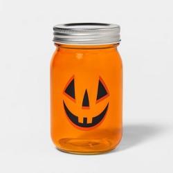 Pumpkin Face Halloween Mason Jar - Hyde & EEK! Boutique™