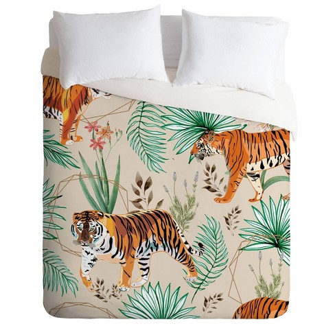 83 Oranges Tropical And Tigers, Bengals Queen Bedding