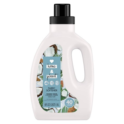 Love Home & Planet Coconut Water & Mimosa Flower Fabric Softener - 40oz - image 1 of 4