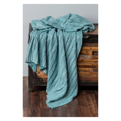 Throw Blankets 50 X60  Teal - Rizzy Home