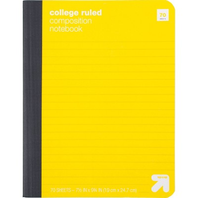 College Ruled Hard Cover Composition Notebook - up & up™