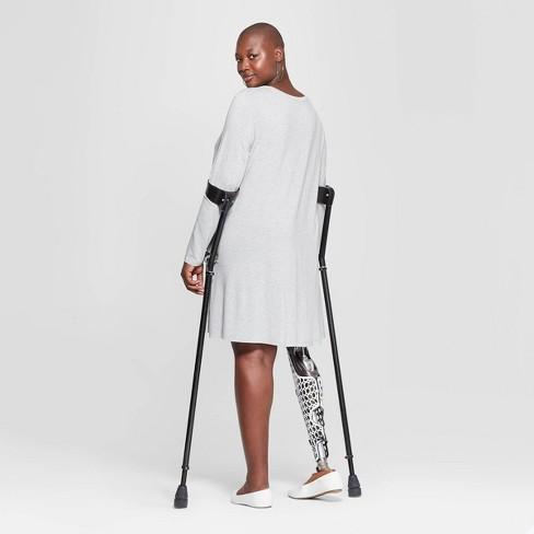 5de5b3a642a8 Women's Plus Size Long Sleeve Scoop Neck Knit Swing Dress - Ava & Viv™