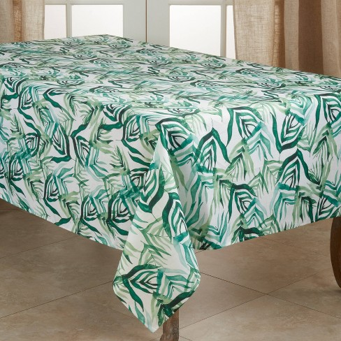 Polyester Tropical Rainforest Tablecloth Green - Saro Lifestyle - image 1 of 4
