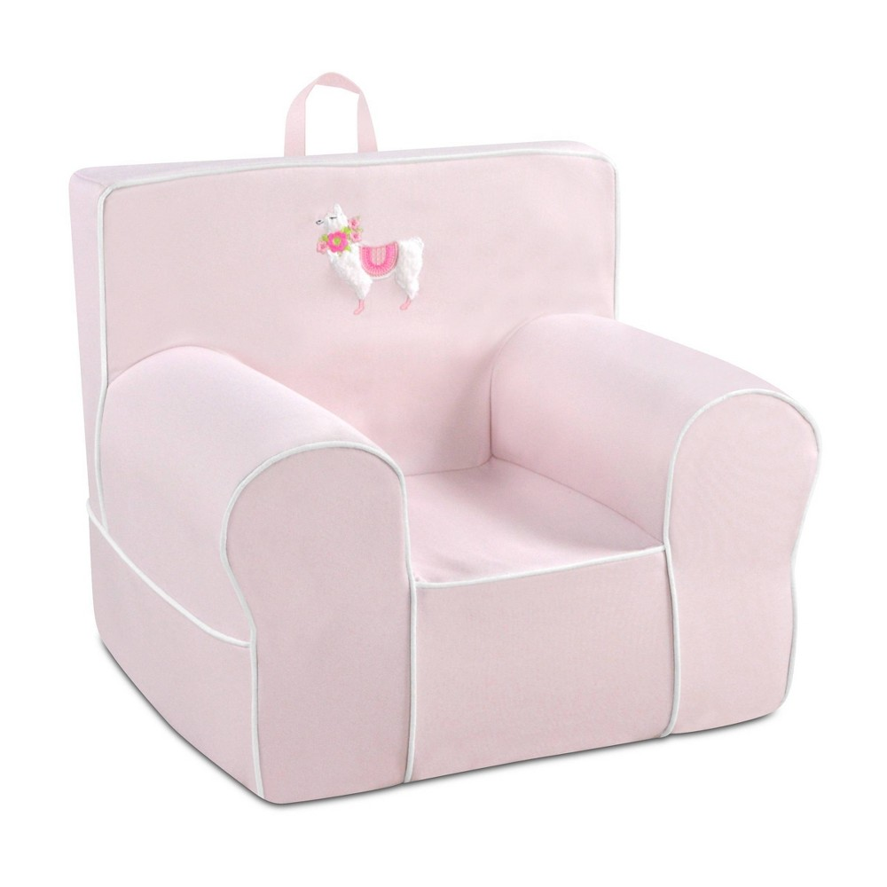 Image of Applique Kid's Foam Chair with Handle Pink - Kangaroo Trading Company