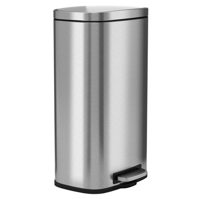 8gal Premium SoftStep Stainless Steel Step Trash Can - Halo