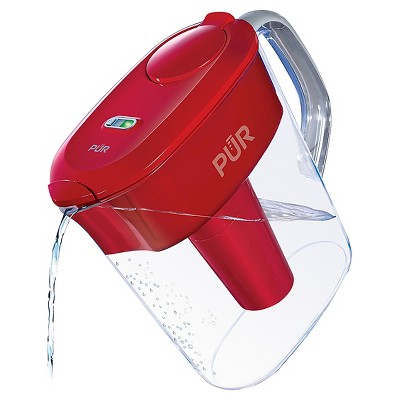 PUR 11-Cup Ultimate LEAD Reduction Water Filtration Pitcher System - Red PPT111R
