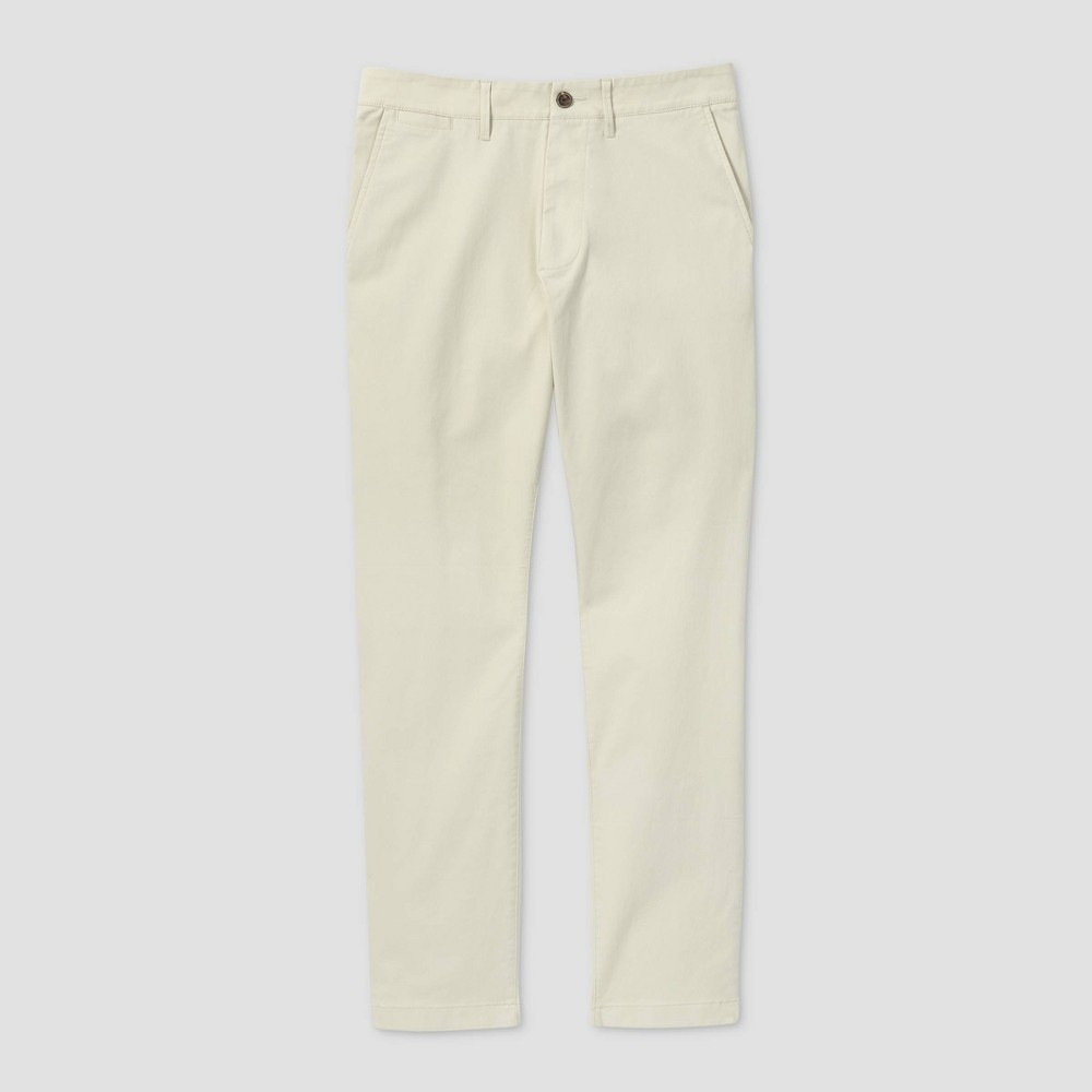Men 39 S Athletic Fit Chino Pants Goodfellow 38 Co 8482 Ivory 38x30