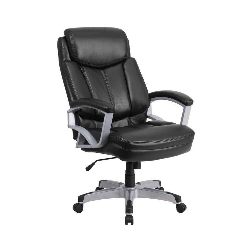 Hercules Series 500 lb. Capacity Big & Tall Executive Swivel Office Chair Black Leather - Flash Furniture