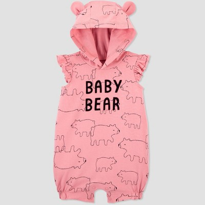 Baby Girls' Baby Bear Romper - Just One You® made by carter's Pink Newborn