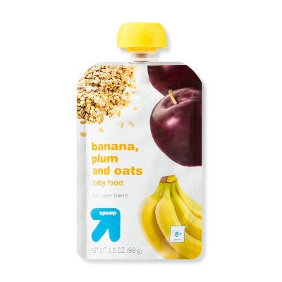 Baby Food Stage 2, Banana and Plum - 3.5oz - Up&Up™