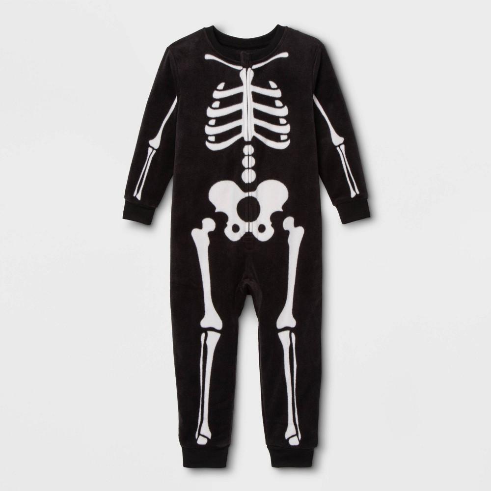 Image of Toddler Skeleton Family Union Suit - Black 18M, Adult Unisex