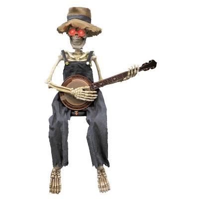 """39"""" Halloween Skeleton Playing Banjo"""