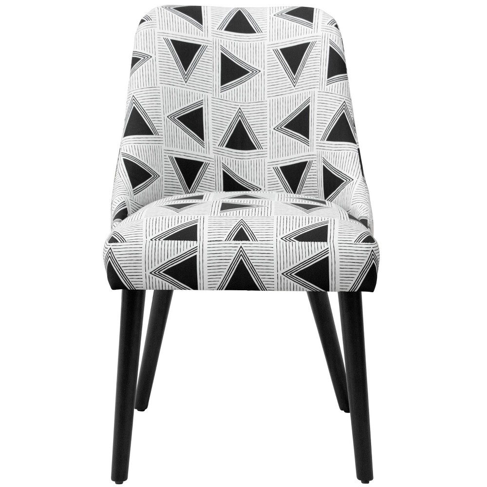Geller Dining Chair Triangle Tile Black/White - Project 62