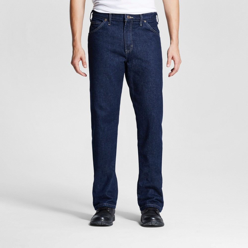 Dickies Men's Relaxed Straight Fit Denim Carpenter Jeans - Indigo Blue Washed 34x34