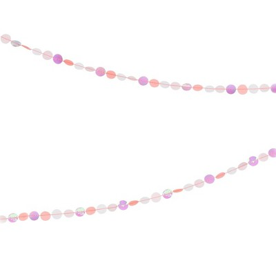Meri Meri Iridescent Confetti Banner – Party Decorations and Accessories - 15'