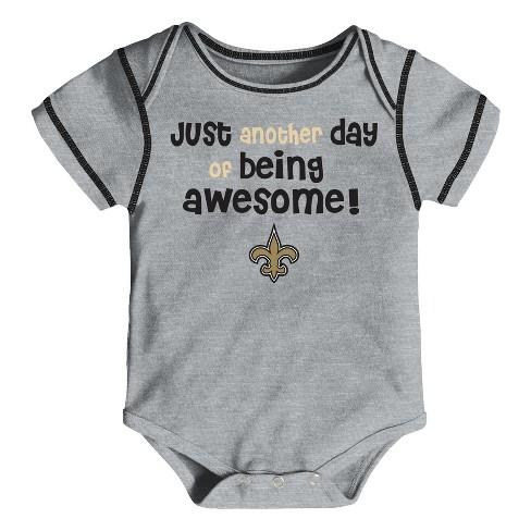 469d4e78 New Orleans Saints Baby Boys' Awesome Football Fan 3pk Bodysuit Set - 3-6 M