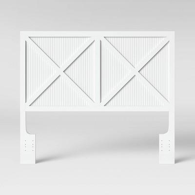 Beadboard Farmhouse Full/Queen Headboard White - Threshold™