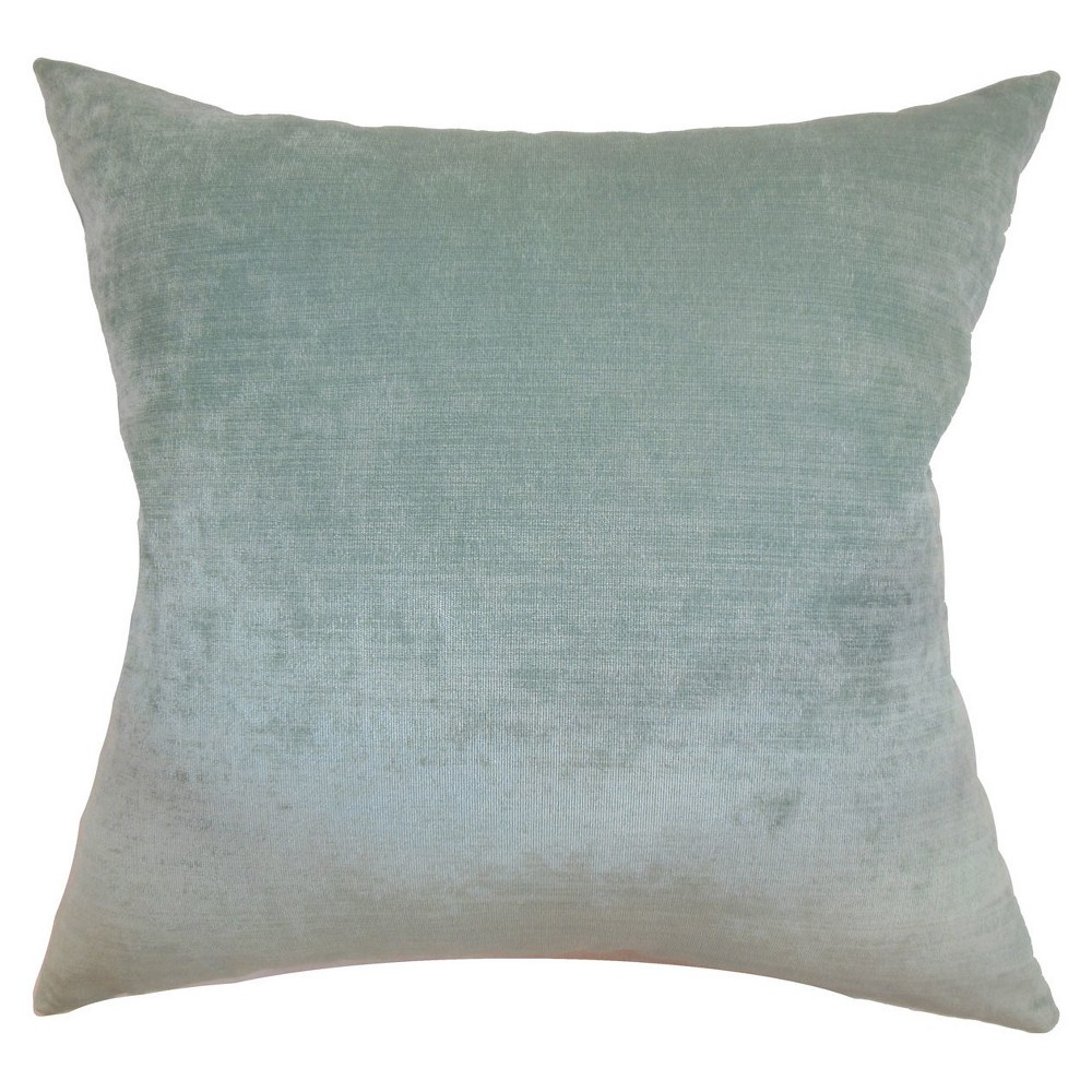 "Image of ""Aqua Velvet Square Throw Pillow (18""""x18"""") - The Pillow Collection"""