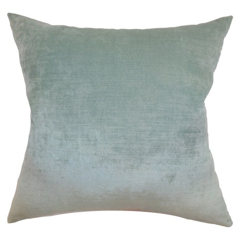 """Aqua Velvet Square Throw Pillow (18""""x18"""") - The Pillow Collection - image 1 of 1"""
