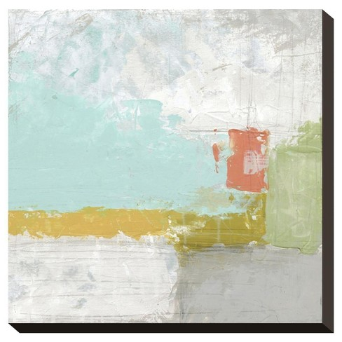 Coastal Quadrant Ii By June Vess Stretched Canvas Print - image 1 of 2
