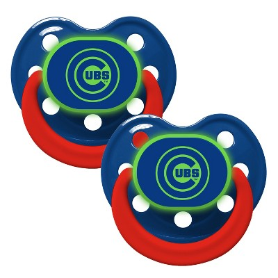 Chicago Cubs Glow in the Dark 2pk Pacifier Set