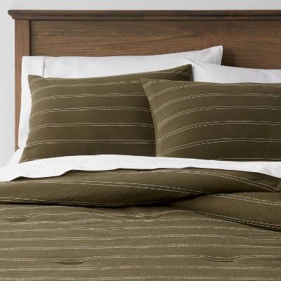 Simple Woven Stripe Comforter & Sham Set - Threshold™