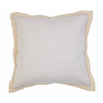 "19""x19"" Andrea Embroidered Flange Pillow - Décor Therapy"