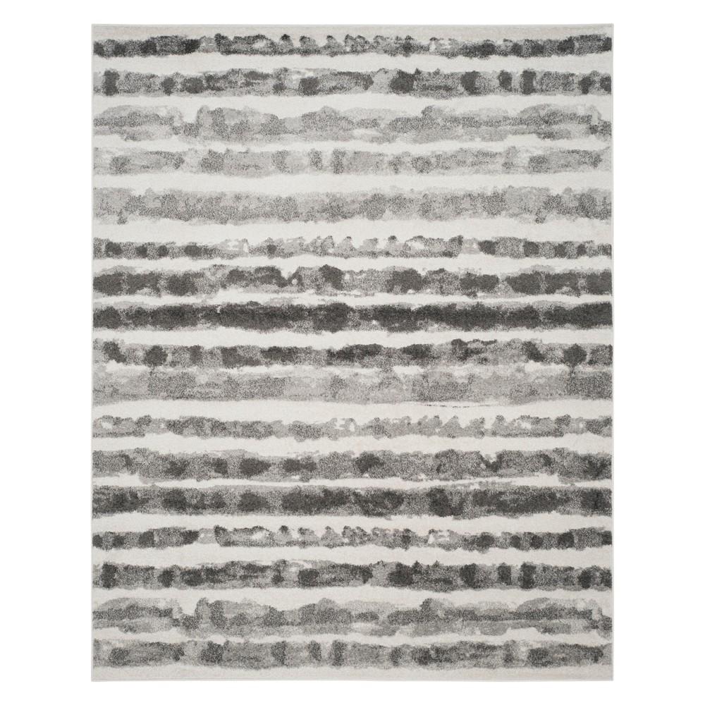 9'X12' Stripe Area Rug Ivory/Charcoal - Safavieh, Gray White