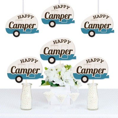 Big Dot of Happiness Happy Camper - Decorations DIY Camping Baby Shower or Birthday Party Essentials - Set of 20