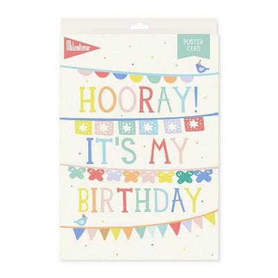 Milestone Birthday Poster Card