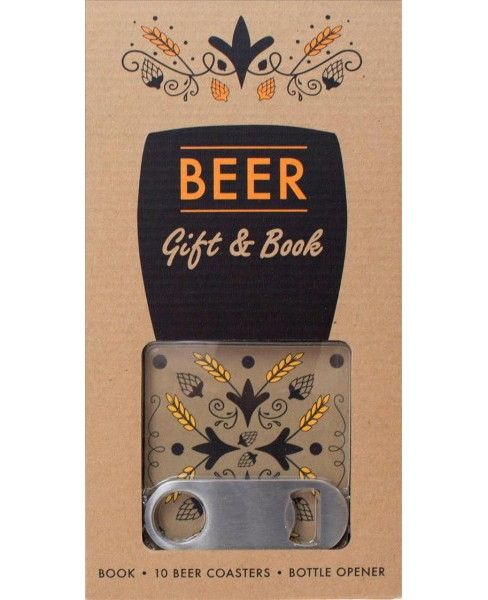 Beer Gift & Book : Includes 10 Beer Coasters and Bottle Opener (Accessory) - image 1 of 1