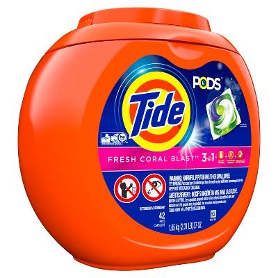 Tide PODS Fresh Coral Blast Laundry Detergent Pacs - 42ct