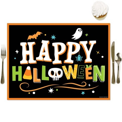 Big Dot of Happiness Jack-O'-Lantern Halloween - Party Table Decorations - Kids Halloween Party Placemats - Set of 16