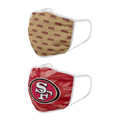 NFL San Francisco 49ers Adult Face Covering 2pk