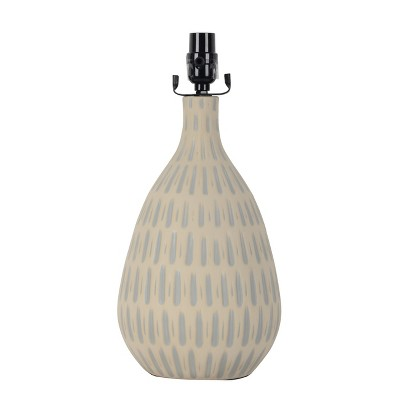 Large Retro Pattern Ceramic Table Lamp Base Gray (Includes Energy Efficient Bulb)- Project 62™