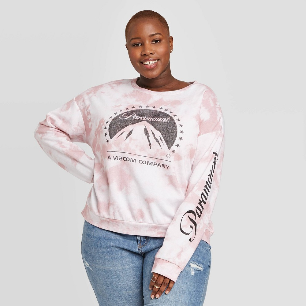Women's Paramount Plus Size Graphic Sweatshirt (Juniors') - White 2X was $19.99 now $13.99 (30.0% off)
