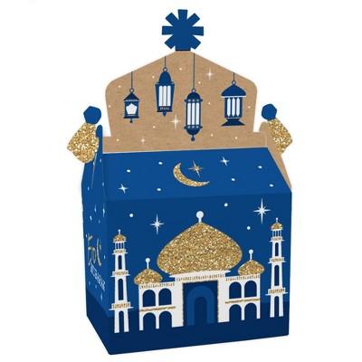 Big Dot of Happiness Ramadan - Treat Box Party Favors - Eid Mubarak Goodie Gable Boxes - Set of 12