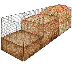 3-Bin Wire Composter, Holds 48 Cubic Feet - Gardener's Supply Company