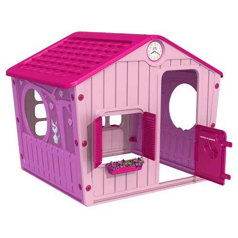 STARPLAY™ Outdoor Village Playhouse-Pink - image 1 of 2