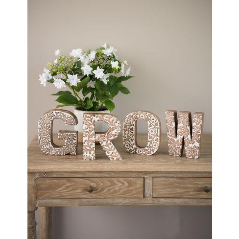 Grow Carved Wood Letters - Gardener's Supply Company - image 1 of 1