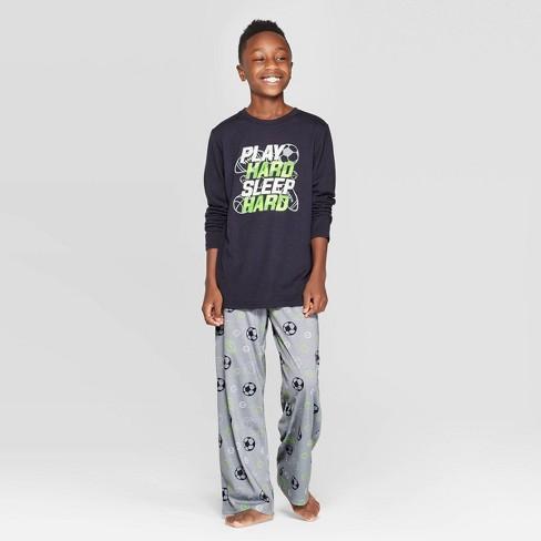 Boys' Sports Pajama Set - Cat & Jack™ Black - image 1 of 3