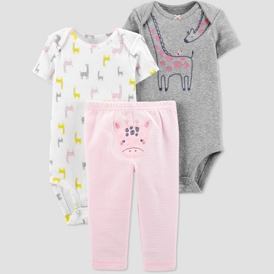 Baby Girls' Giraffe Top & Bottom Set - Just One You® made by carter's Gray/White/Pink 6M