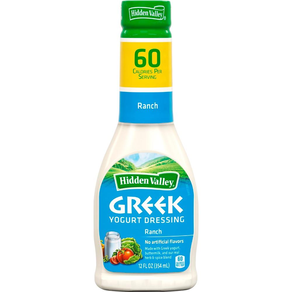 Hidden Valley Greek Yogurt Original Ranch Salad Dressing & Topping - Gluten Free - 12oz Bottle