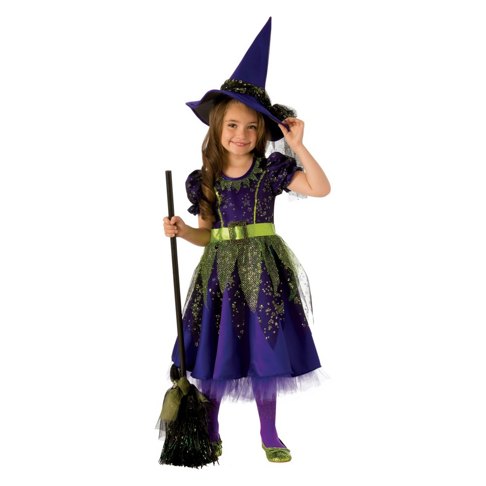 Girls' Twilight Witch Halloween Costume S, Multicolored