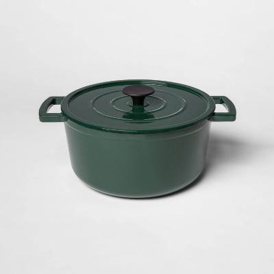 5qt Cast Iron Round Dutch Oven Green - Threshold™