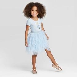 Toddler Girls' Disney Cinderella Short Sleeve Tutu Dress- Blue
