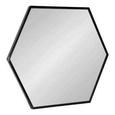 "22"" x 25"" McNeer Hexagon Wall Mirror Black - Kate & Laurel All Things Decor"