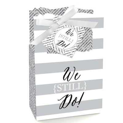 Big Dot of Happiness We Still Do - Wedding Anniversary Party Favor Boxes - Set of 12