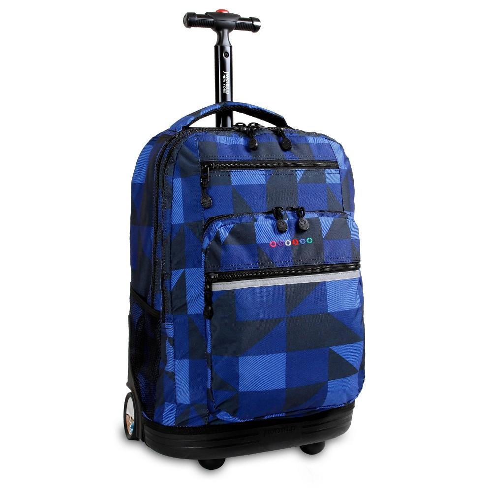 J World 20 34 Sundance Rolling Backpack With Laptop Sleeve Block Navy