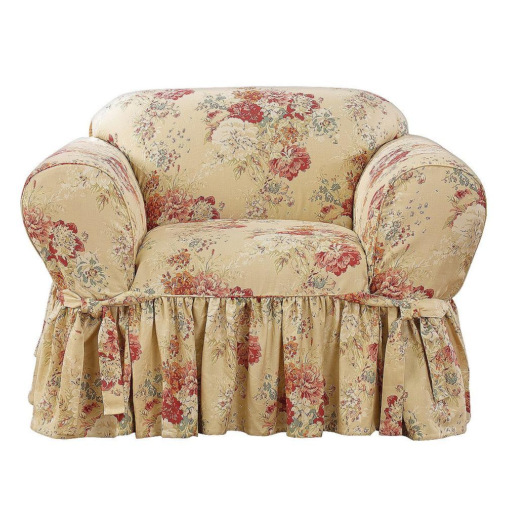 Prime Ballad Bouquet Chair Slipcover Blush Sure Fit Inzonedesignstudio Interior Chair Design Inzonedesignstudiocom